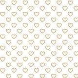 Corações marrons de Digitas e papel branco da cor ilustração stock