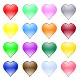Corações Multi-coloured ilustração stock