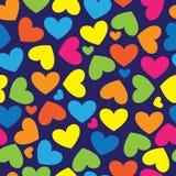 Corações multicoloridos do teste padrão sem emenda Imagens de Stock Royalty Free