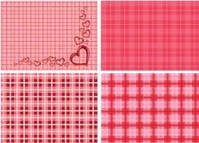 Corações na ilustração cor-de-rosa do fundo fotos de stock