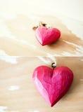 Corações na moda vermelhos do olhar Imagem de Stock Royalty Free