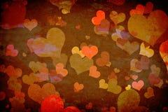 Corações na parede do grunge Imagens de Stock