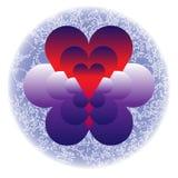 Corações nas nuvens ilustração royalty free
