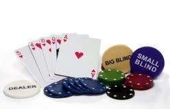 Corações nivelados no póquer Imagem de Stock