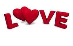Corações no amor Fotografia de Stock