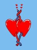 Corações no amor junto Fotos de Stock