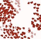 Corações no branco Fotografia de Stock Royalty Free