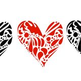 Corações no branco Fotos de Stock