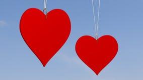 Corações no céu vídeos de arquivo