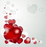 Corações no cinza Fotos de Stock Royalty Free