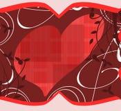 Corações no fundo abstrato Fotografia de Stock