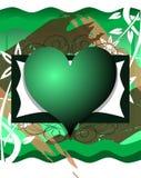 Corações no fundo abstrato Imagens de Stock