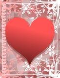 Corações no fundo abstrato Imagens de Stock Royalty Free