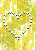 Corações no fundo abstrato Foto de Stock Royalty Free