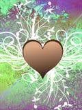 Corações no fundo abstrato Foto de Stock