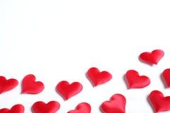 Corações no fundo branco Foto de Stock Royalty Free