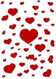 Corações no fundo branco Imagem de Stock