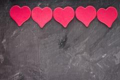 Corações no fundo cinzento Imagem de Stock Royalty Free