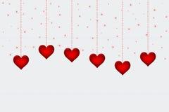 Corações no Livro Branco para o fundo do dia de Valentim Foto de Stock
