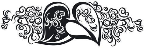 Corações no preto Fotografia de Stock Royalty Free