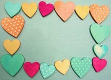 Corações no quadro Imagens de Stock Royalty Free
