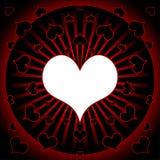Corações no vetor quadrado Imagens de Stock