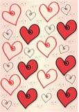 Corações - onda Imagens de Stock
