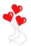 Corações para brincar balões Fotografia de Stock Royalty Free