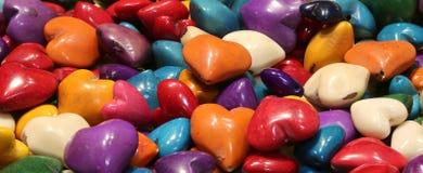 Corações para decorar ou criar colares Imagens de Stock Royalty Free