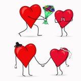 Corações para o dia de Valentim Fotos de Stock