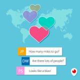 Corações pelo periscópio Imagem de Stock