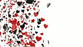 Corações pretos e vermelhos Foto de Stock Royalty Free