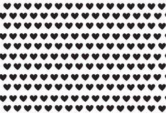 Corações pretos, teste padrão com corações, vetor Imagens de Stock Royalty Free