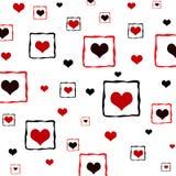 Corações quadro Fotografia de Stock Royalty Free