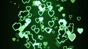 Corações que movem-se aleatoriamente ilustração royalty free
