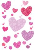 Corações que voam 06 Imagem de Stock