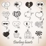 Corações queridos ilustração royalty free