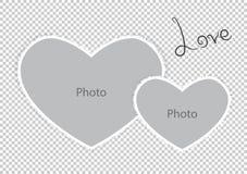 Corações românticos do formulário do quadro da foto do dia de Valentim do St ilustração stock