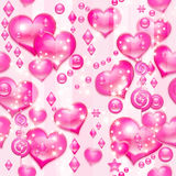 Corações rosados do Valentim Fotografia de Stock Royalty Free