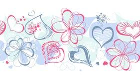 Corações roxos ilustração stock