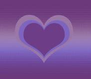 Corações roxos Fotografia de Stock