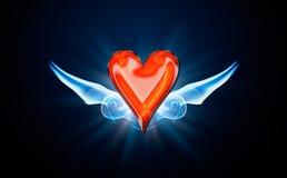 Corações, símbolo do póquer Fotos de Stock