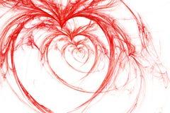 Corações selvagens no branco Fotografia de Stock Royalty Free