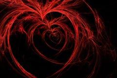Corações selvagens no preto Fotografia de Stock Royalty Free