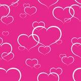 Corações sem emenda Fotografia de Stock Royalty Free