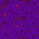 Corações sem emenda Fotografia de Stock