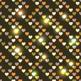 Corações sem emenda brilhantes do dia de Valentim Imagens de Stock