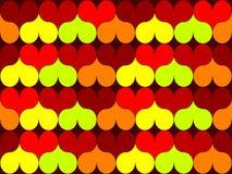 Corações sem emenda do teste padrão ilustração stock