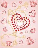 Corações sobre corações Fotografia de Stock