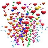 Corações up2 Ilustração Stock